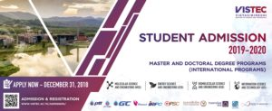 VISTEC -- Student Admission 2019-2020